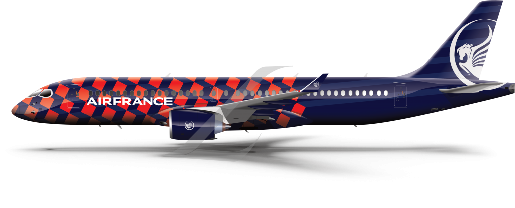 Airbus A220 Air France livery