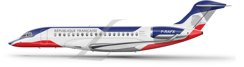 Dassault Falcon 10X livery COTAM (french air force)
