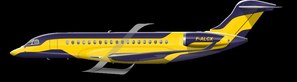 Dassault Falcon 10X livery