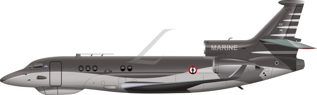 Dassault Falcon 8X Archange livery, french navy